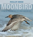 Book cover for Moonbird, a red knot shorebird flying over the ocean