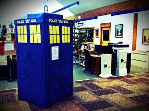 Tardis parked in the Crook County Library