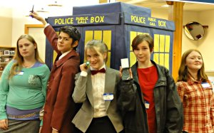 Photo op with the Tardis