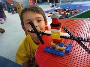 Riley at lego club
