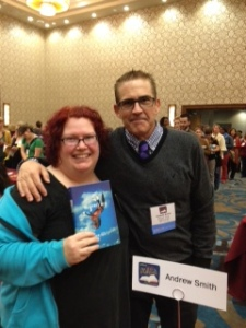 Aimee with Author Andrew Smith